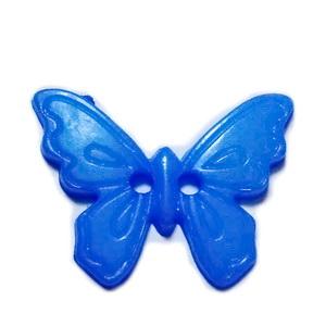 Nasturi plastic albastru, fluturas 17x22.5x2mm 1 buc