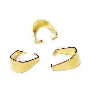 Agatatoare pandantiv, otel inoxidabil 304, auriu, 10x8.5x0.5mm 1 buc
