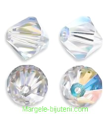 Swarovski Elements, Bicone 5328-Cristal AB, 6mm 1 buc