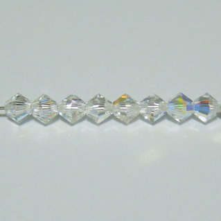 Swarovski Elements, Bicone 5328-Cristal AB, 4mm 1 buc