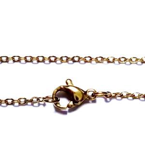 Lant otel inoxidabil 304, auriu, cu inchizatoare, zale 1.5x0.2mm, lungime 45cm 1 buc