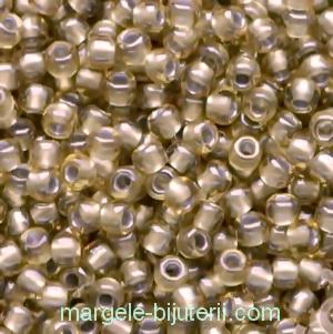 Margele TOHO - rotunde 11/0 : Silver-Lined Pale Amber 1 buc