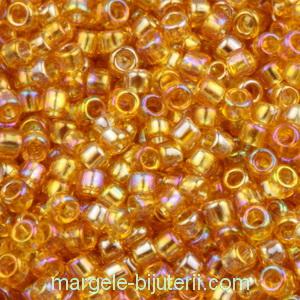 Margele TOHO - rotunde 11/0 : Transparent-Rainbow Med Topaz 1 buc