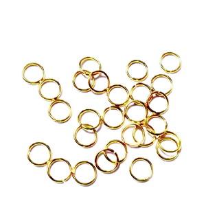 Zale simple otel inoxidabil auriu, intredeschise, 4x0.5mm cca 50 buc