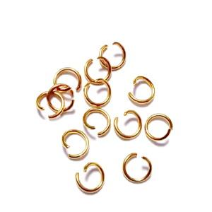 Zale simple otel inoxidabil auriu, intredeschise,  5x0.7mm cca 50 buc