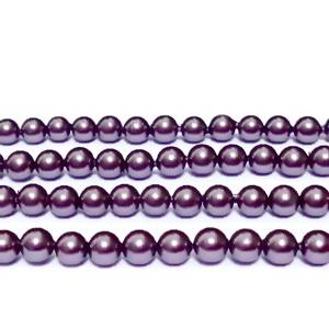 Perle stil Mallorca, violet, 4 mm 1 buc