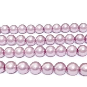 Perle stil Mallorca, roz prafuit, 6 mm 1 buc