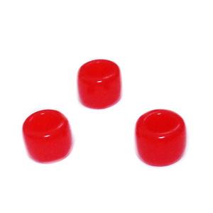 Margele plastic, rosii, 8x6mm, orificiu 4 mm 1 buc