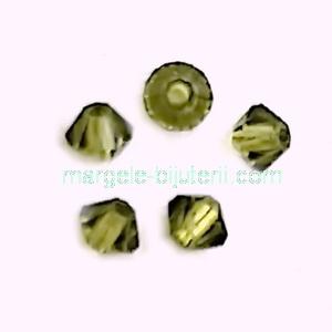 Margele Preciosa biconice Olivine - 3mm 1 buc