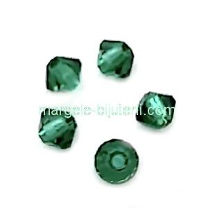 Margele Preciosa biconice Emerald - 3mm 1 buc