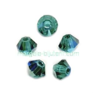 Margele Preciosa biconice Emerald AB - 3mm 1 buc