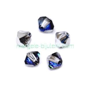 Margele Preciosa biconice Crystal Bermuda Blue - 4mm 1 buc