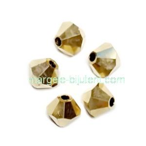 Margele Preciosa biconice Aurum full - 4mm 1 buc