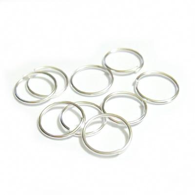Zale simple argintii 8mm,grosime 0.8mm 100 buc