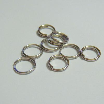 Zale duble, argintiu inchis,  7 mm 50 buc