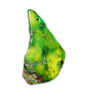 Pandantiv regalit verde cu jasp imperial, 46x26x5mm 1 buc