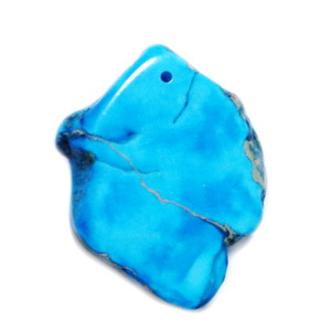 Pandantiv regalit albastru cu jasp imperial, 36x29x5mm 1 buc