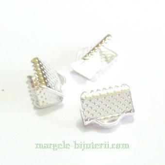 Capat prindere snur, panglici, argintii- 10x6 mm 10 buc