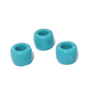 Margele plastic, albastre, 8x6mm, orificiu 4 mm 1 buc