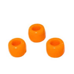 Margele plastic, portocaliu intens, 8x6mm, orificiu 4 mm 1 buc