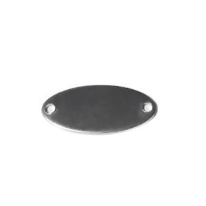 Conector/link otel inoxidabil 201, pt.gravat, oval, 17x8x0.8mm 1 buc