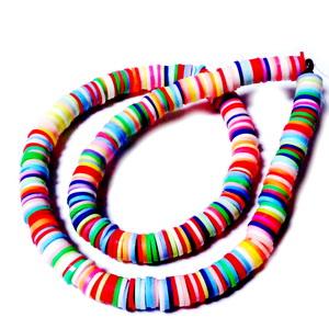 Mix margele polymer, culori diverse, 7-8x0.5~1mm, sir 44 cm(380-400bc) 1 buc