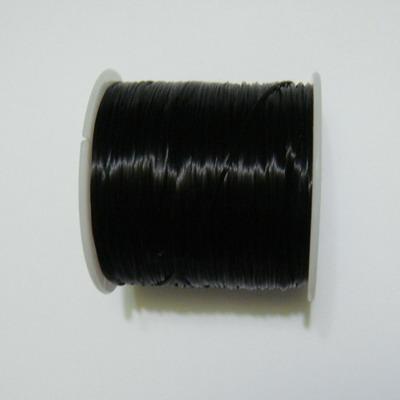 Fir elastic negru 0.8 mm, bobina 70 metri 1 buc