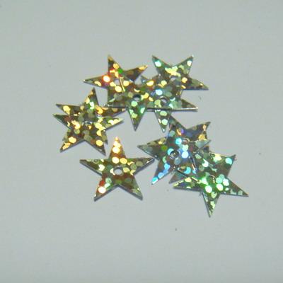Paiete argintii stelute 13mm, 2 gr(cca 80 bc) 2 g