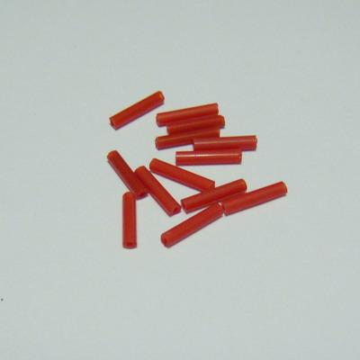 Margele tubulare rosii, 9mm 20 g