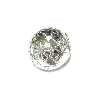 Margele filigran argintii, 20mm 1 buc