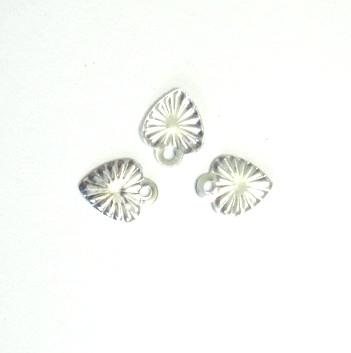 Pandantive argintii, inimioare 7x6 mm 10 buc