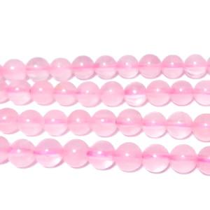 Cuart roz deschis 6,3mm 1 buc