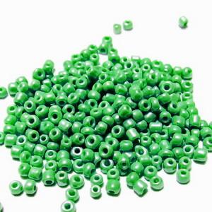 Margele nisip, opace, verde deschis, perlate, 2mm 20 g