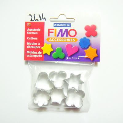 Set 6 cuttere forme diferite pentru fimo,  2.5 3 cm