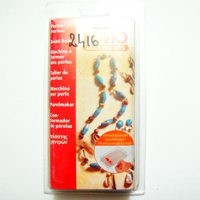 Rollere pentru margele din fimo, rotund: 10mm si biconic 1 set
