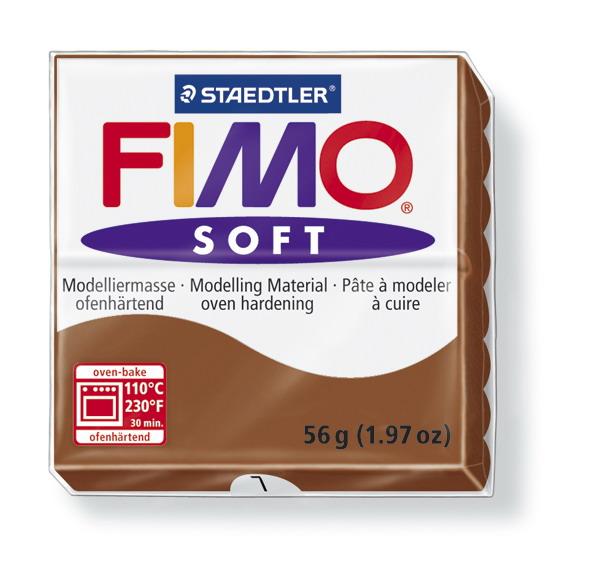 Plastelina fimo soft 56g cod cul. 7 caramel 1 buc