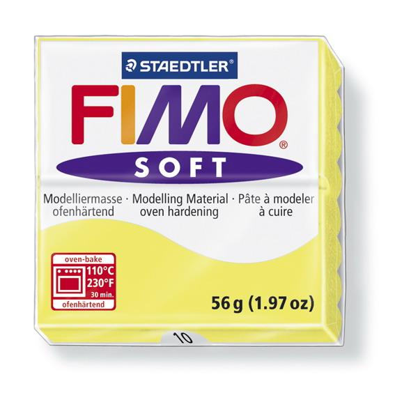 Plastelina fimo soft 56g cod cul.10 galben lamaie 1 buc