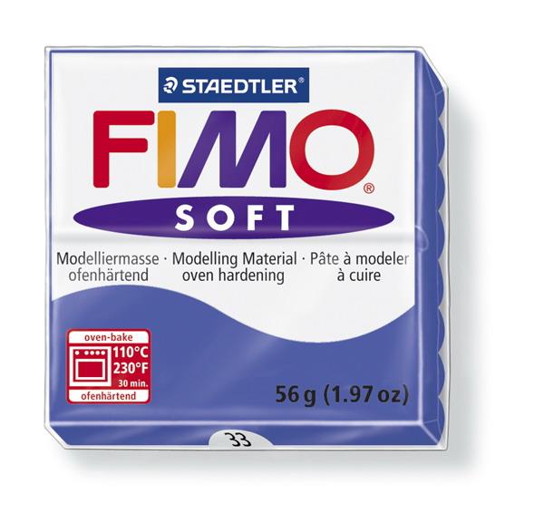 Plastelina fimo soft 56g cod cul. 33 albastru 1 buc