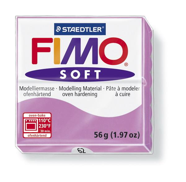 Plastelina fimo soft 56g cod cul. 62 lavanda 1 buc