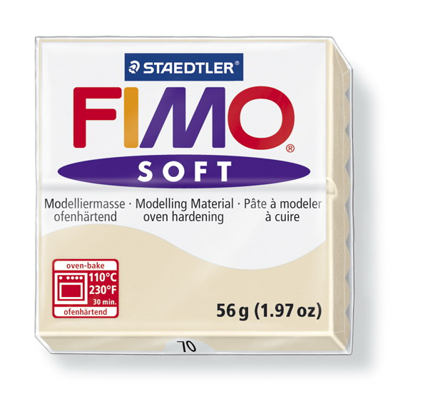 Plastelina fimo soft 56g cod cul. 70 nisip 1 buc
