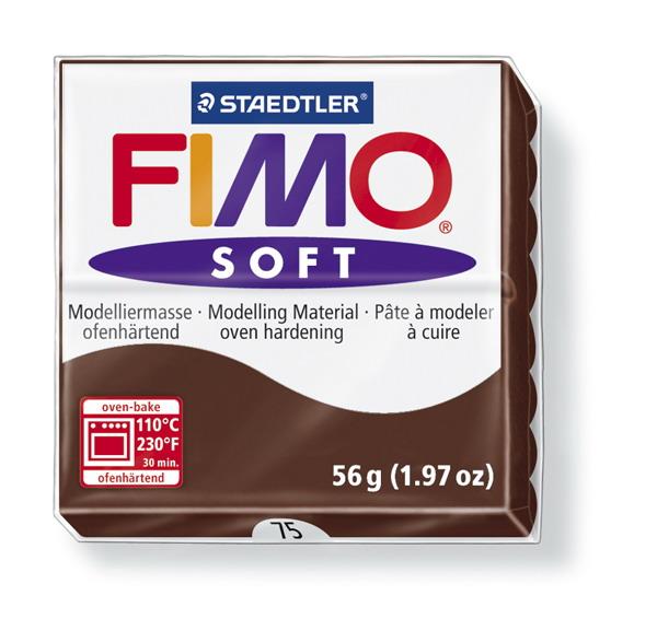 Plastelina fimo soft 56g cod cul. 75 ciocolata 1 buc