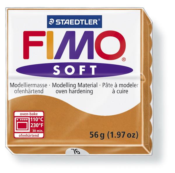 Plastelina fimo soft 56g cod cul. 76 coniac 1 buc