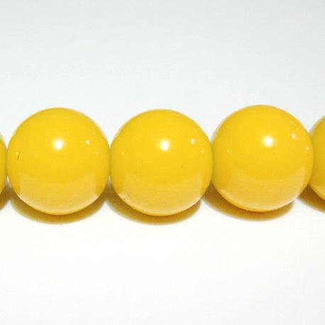 Margele sticla galbene 14mm 1 buc