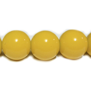 Margele sticla galbene 16mm 1 buc