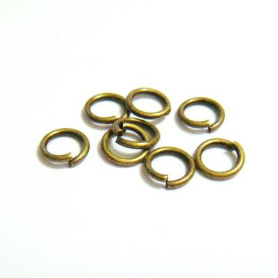 Zale simple bronz, 6mm (grosime 1mm) 100 buc