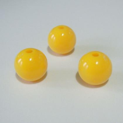Margele plastic galbene 10mm 10 buc