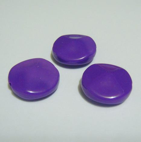 Margele plastic violet, disc 18mm 1 buc