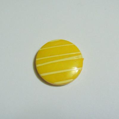 Margele plastic galben, disc 20mm 1 buc