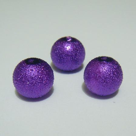 Perle sticla, stardust, violet, 12mm 1 buc