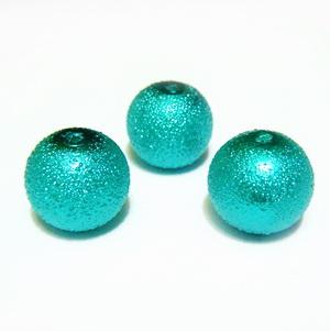 Perle sticla, stardust, verde pastel, 12mm 1 buc